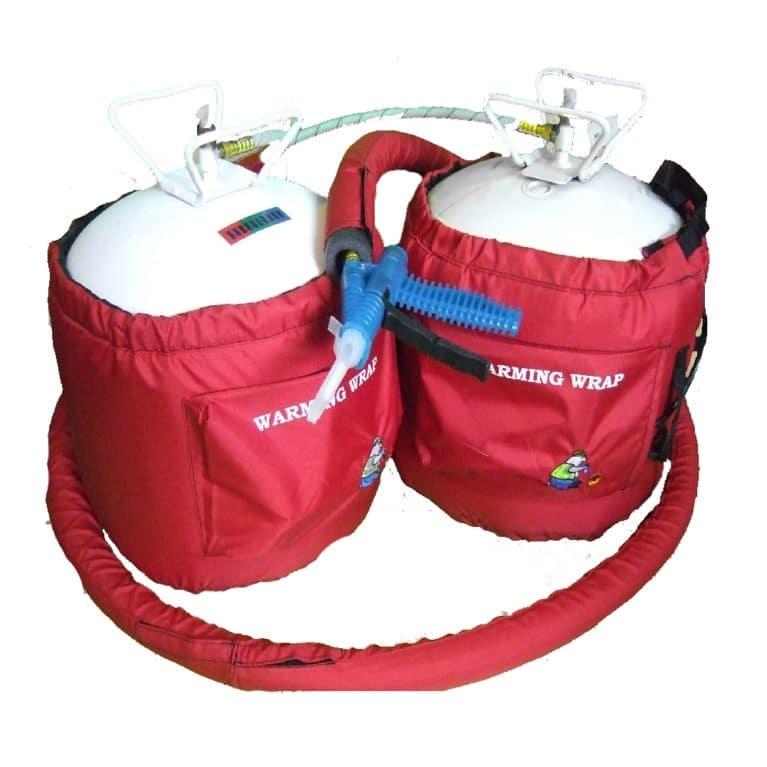twin foam cylinder heater wrap