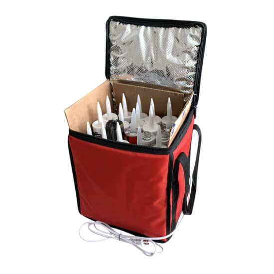 warming bag for caulk